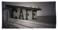 Cafe On The Pier Beach Towel