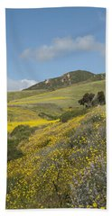 California Hillside View I Beach Towel