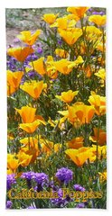 Beach Towel featuring the photograph California Poppies by Carla Parris