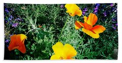 Beach Towel featuring the photograph California Poppy by Nina Prommer