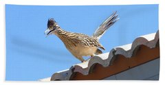 Beach Sheet featuring the photograph California Roadrunner by Carla Parris
