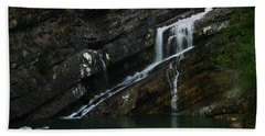 Cameron Falls Waterton Lakes National Park Beach Towel