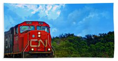 Canadian Northern Railway Train Beach Sheet