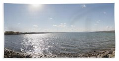 Beach Towel featuring the photograph Canandaigua Lake Panorama by William Norton