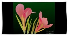 Beach Sheet featuring the painting Canna Lilly Whimsy by Rand Herron