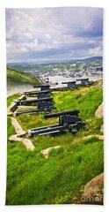 Cannons On Signal Hill Near St. John's Beach Towel