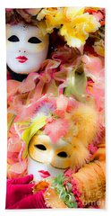 Beach Sheet featuring the photograph Carnival Mask by Luciano Mortula