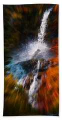 Beach Towel featuring the photograph Cascade Waterfall by Mick Anderson