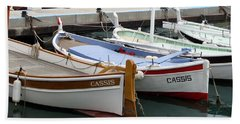 Beach Towel featuring the photograph Cassis Harbor by Carla Parris