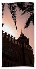 Beach Towel featuring the photograph Castell Dels Tres Dragons - Barcelona by Juergen Weiss