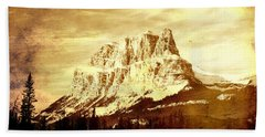 Castle Mountain Beach Towel by Alyce Taylor