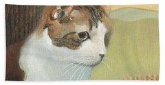Cat And Sunset Beach Sheet