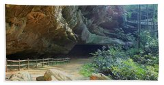 Cave Entrance Beach Towel by Myrna Bradshaw