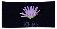 Celestial Waterlily Beach Towel