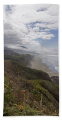 Beach Towel featuring the photograph Central Oregon Coast Vista by Mick Anderson
