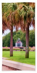 Charleston Pineapple Fountain Beach Towel