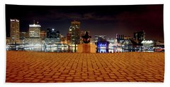Charm City Skyline Beach Towel