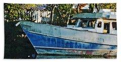 Chauvin La Blue Bayou Boat Beach Sheet