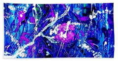 Cherry Blossom Explosion Beach Towel