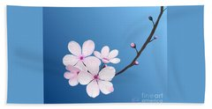Beach Sheet featuring the painting Cherry Blossoms by Rand Herron