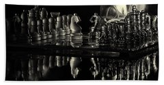 Chess By Candlelight Beach Towel