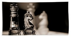 Chess King And Knight Beach Towel