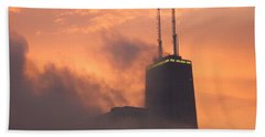 Chicago Dusk Beach Towel