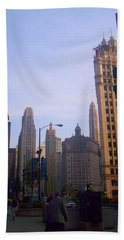 Chicago Scene Beach Towel