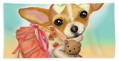 Beach Towel featuring the digital art Chihuahua Princess by Catia Lee