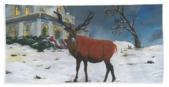 Christmas Elk Beach Sheet