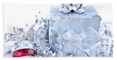 Christmas Gift Boxes Beach Towel