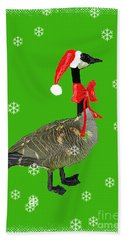 Christmas Goose Beach Towel