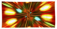 Beach Towel featuring the photograph Christmas Light Abstract by Steve Purnell