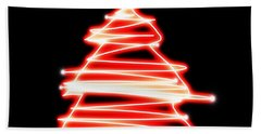 Christmas Tree Lighting Beach Towel