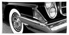 Chrysler 300 Headlight In Black And White Beach Towel