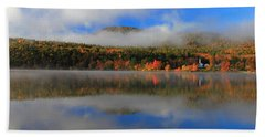 Church Across The Lake-panoramic Beach Towel