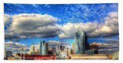 Cincinnati Skyline 2012 - 2 Beach Towel