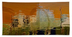 City Abstract Beach Towel by Elaine Manley