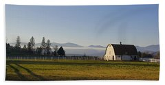 Beach Towel featuring the photograph Classic Barn In The Country by Mick Anderson