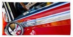 Classic Red Car Artwork Beach Towel