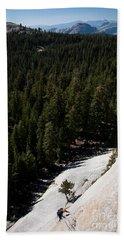 Climber In Yosemite Beach Towel