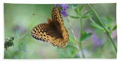Close-up Butterfly Beach Towel