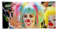 Beach Sheet featuring the photograph Cloverleaf Clown by Alice Gipson