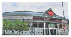 Beach Towel featuring the photograph Coca Cola Field  by Michael Frank Jr