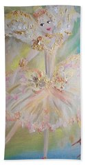 Coffee Fairy Beach Sheet by Judith Desrosiers
