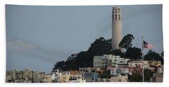 Beach Sheet featuring the photograph Coit Tower by Eric Tressler