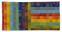 Collage Color Study Sketch Beach Towel
