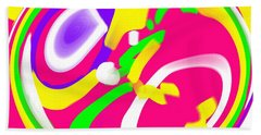 Beach Towel featuring the digital art Color Roundup by George Pedro