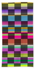 Colorful Cubes Beach Towel