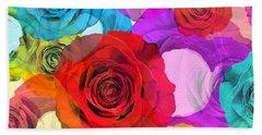 Colorful Floral Design  Beach Towel